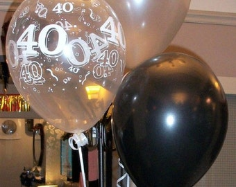 Happy 40th Birthday Party Helium Pearl Balloon Decoration DIY Cluster