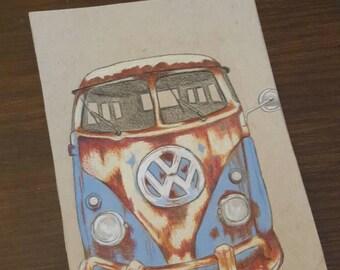 Rusty Volkswagon Bus