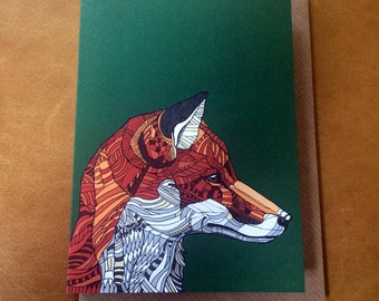 The Fox - A6 Card