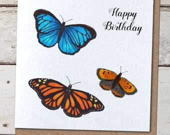 British Butterflies Birthday/Thank You/Any Occasion Greetings Card