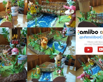 Exclusive Custom DIORAMA Display for Amiibo Jungle Donkey Kong Scenography Stand