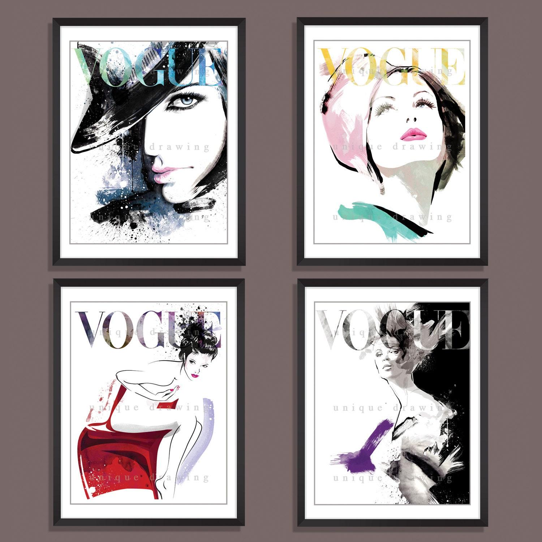 Fashion Illustration fashion art print Fashion poster Vogue