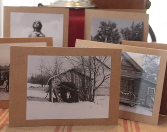 Black and White Photo Greeting Cards