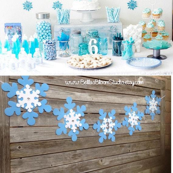 Sale Birthday Banner Frozen Banner Snowflake By