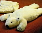 "Instant PDF Download Vintage Chart Sewing Pattern to make A Polar Bear Nightdress Pyjama Case or Stuffed Plush Soft Body Toy Animal 23-24"""