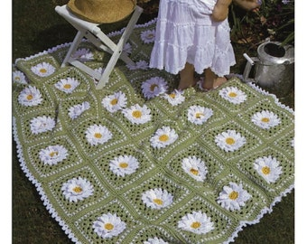 Crochet Granny Square Rug Patterns : Granny square rug Etsy