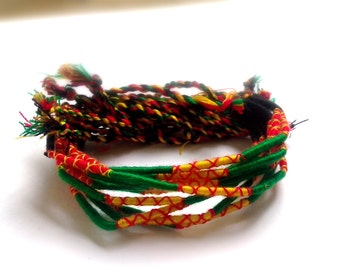 FREE SHIPPING, 100 PCS. Friendship Bracelet, Hippie Wrap Friendship Bracelet,Wholesale
