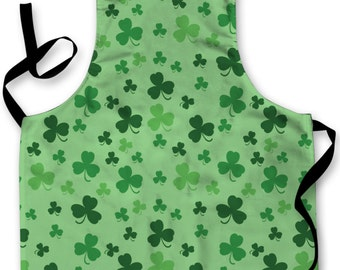 3 Leaf Clover Design Apron Kitchen bbq Cooking Painting Made In Yorkshire