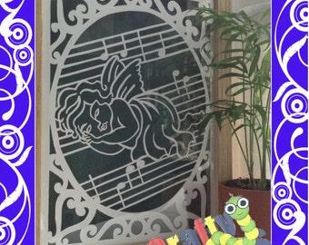 Sleeping Angel Framed Paper Cut