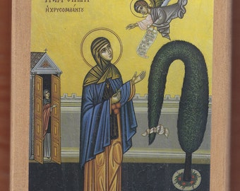 St Irene Chrysovolantou.Christian orthodox icon.FREE SHIPPING