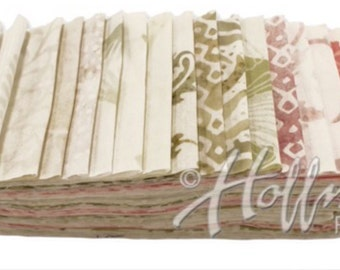 "Bali Poppy ""Fresh Linen"" by Hoffman Fabrics-20 strips of 2 1/2"" fabric strips -jelly roll - BPP-651 - hand dyed fabric,  batik fabric"