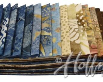 "Bali Poppy ""Beach Sand"" by Hoffman Fabrics-20 strips of 2 1/2"" fabric strips -jelly roll - BPP-544 - hand dyed fabric,  batik fabric"