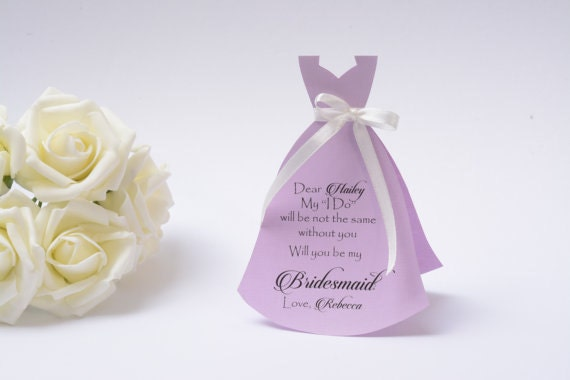 Will you be my Bridesmaid Flower Girl  Maid of Honor Dress Card With Pearl Details