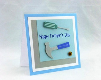 Handmade Father's Day Tools Card