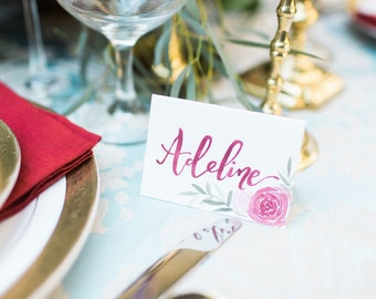Handlettered Place Cards