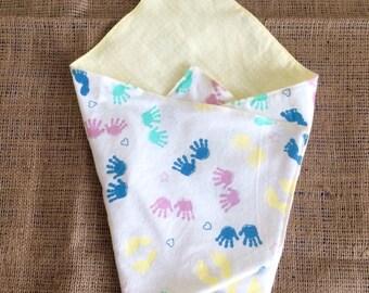 Stillborn blanket, Angel baby blanket, Bereavement gift, small baby blanket, miscarriage blanket - GENDER NEUTRAL