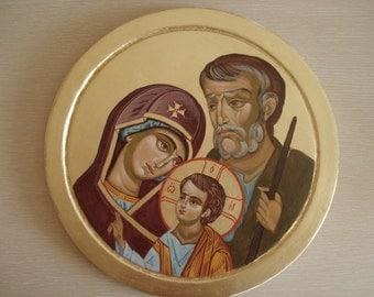 Holy Family, Byzantine icon,Orthodox icon,Handpainted
