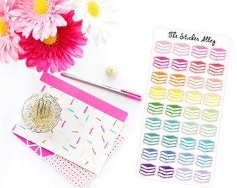 36 Book Stickers || Perfect for Erin Condren Life Planners, Planning and Scrapbooking.