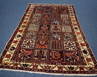 Rare Antique Persian Bakhtiyari rug