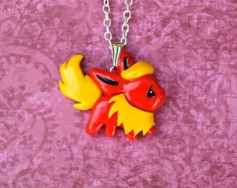 Flareon Eeveelution Necklace