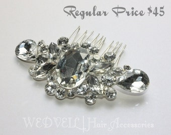 Crystal Hair Comb for Wedding