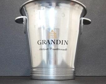 "vintage french aluminium champagne cooler ""Grandin"""