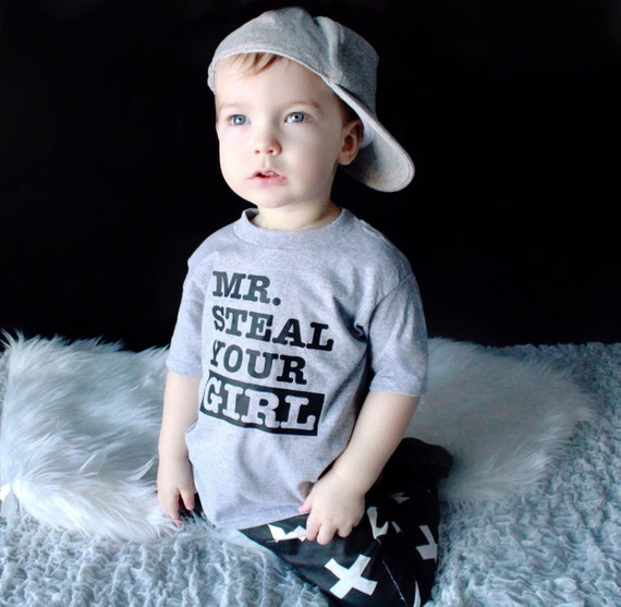 Toddler Shirt Graphic Tee Mr Steal Your Girl Infant