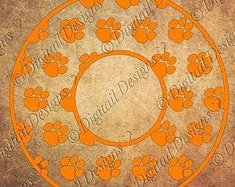 Tigers Monogram Frame Svg, Png, Dxf, Eps, Fcm SC Tigers SVG  Monogram Circle Monogram South Carolina Tiger Paw