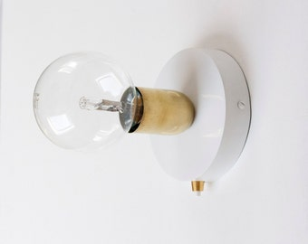 Brass Wall Sconce with 120mm wall sconce and button switch