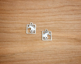 Sterling Silver - Jumper Horse Charms - Jewelry Component