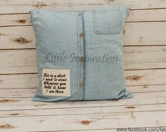 Memory Shirt Cushion - Made to order.