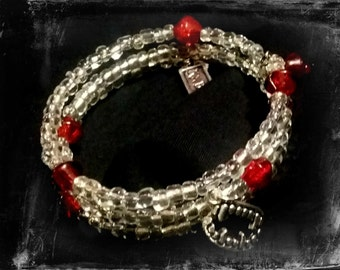 Bloody Vampire Bracelet - Vampire Fangs - Goth -