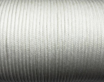 100 m cotton cord 1mm white CH080