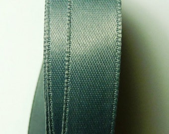 30 meters Satin ribbon 6mm Grey