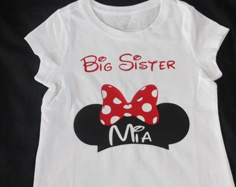 A Disney Brother Sister  - Baby Toddler Girl Boy -Dress and Tie Shirt - Red Black -Perfect for Disney Trips - Traditional Mickey Minnie