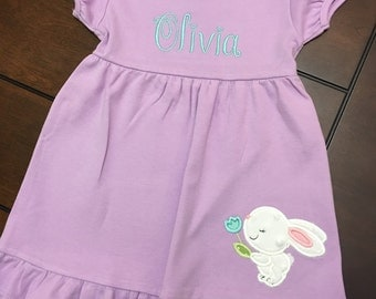 Personalized Girls Spring Dress - Personalized Girls Easter Dress