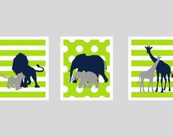 Safari Animals, Safari Print, Nursery Decor, Nursery Art, Safari Decor, Elephant Print, Giraffe Print, Playroom Prints, Boys Room, Kids Art
