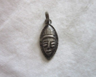 Antique Sterling Silver Charm Indian Mask