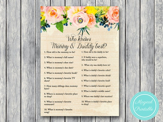 co ed baby shower games floral rustic burlap baby shower game