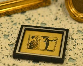 Small Framed Silhouette Folk Art