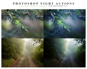 INSTANT DOWNLOAD Night Photoshop Action