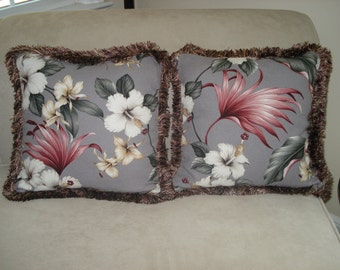 Hawaiian Bark Cloth Pillows
