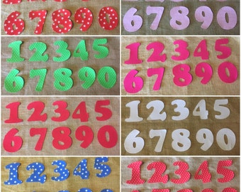 Mix and Match Iron On Numbers - Applique Numbers