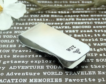 Monogram Money Clip - Personalized Money Clips, Groomsmen Gift, Wedding Gift, Gift for Man, Wedding Party gifts, Groom.