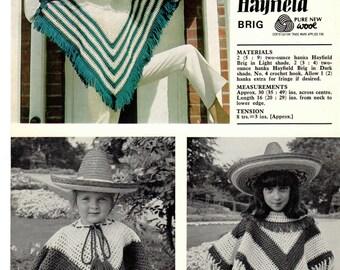 """PDF Crochet Pattern- Vintage Crochet pattern-30""""-49"""" across chest"""