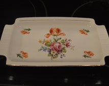 Vintage Colditz Pottery Rectangular Serving Dish