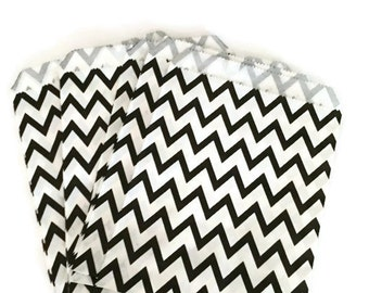 Black Chevron Party Bags