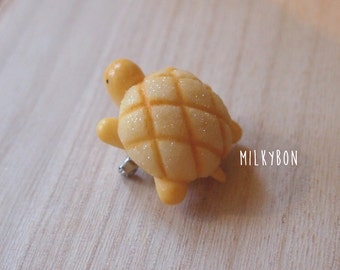 cute meronpan melon sweet bread turtle pin brooch