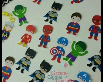 20 (2inch) Piece Superhero Confetti, Superhero confetti