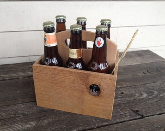 Wood 6 Pack Beer Holder